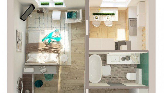 Гарсониера с просторна баня-604_4