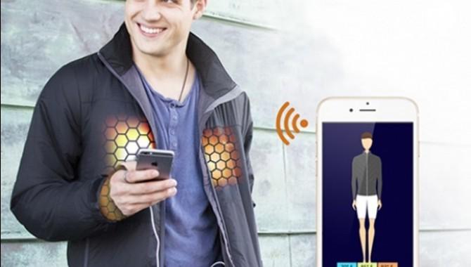 «Умно» яке с вградено отопление. В материята на якето Flexwarm са вградени нагряващи елементи в областта на гърба и гърдите. С помощта на специални датчици се регулира подаването на топлина към тялото според желанието на носещия го. -606_2