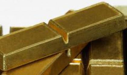 Златото се търгува в близост до рекордните стойности от петък