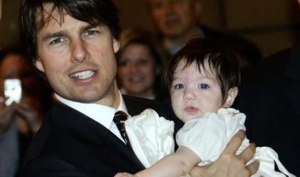 Том Круз подари мини болид на 3-годишната си дъщеря