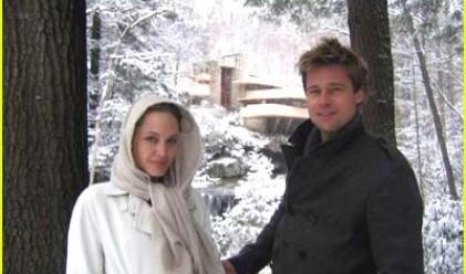 Анджелина Джоли подари на Брад Пит водопад за Коледа