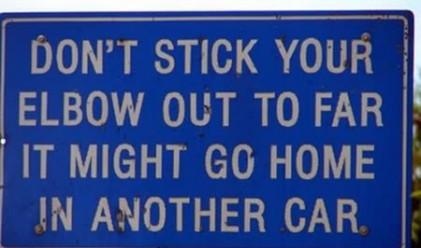 Още от най-смешните пътни знаци