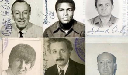Как изглеждат в паспортите си най-известните личности на 20 век