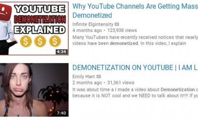 YouTube удари по джоба професионалните влогъри