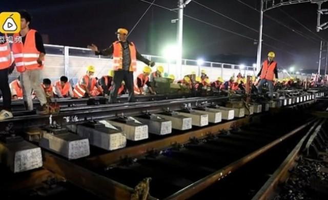 Как китайци построиха нова ж.п. линия за 9 часа
