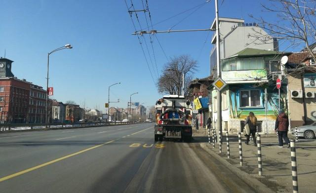 Механизирано метене и миене на улиците в София за по-чист въздух