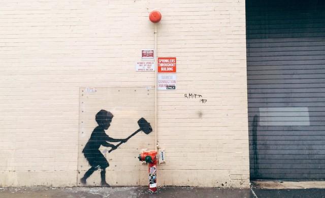 Графит на стена беше продаден за 115 000 евро
