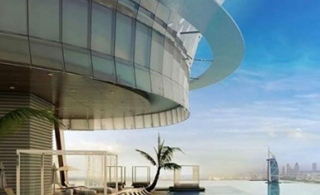 Невероятен инфинити басейн, обгръщащ небостъргач в Дубай (снимки)
