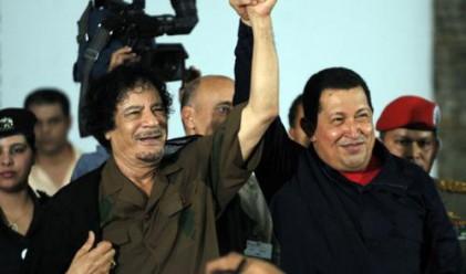 Уго Чавес подкрепи Кадафи