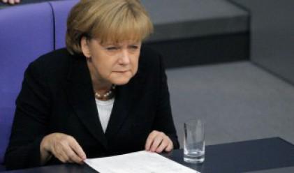 Заляха Меркел с бира (видео)
