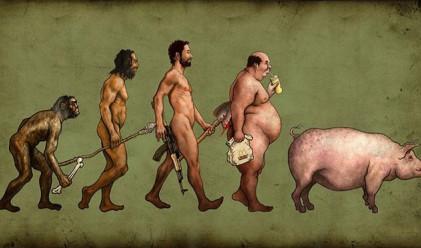 Човешката еволюция в няколко забавни карикатури