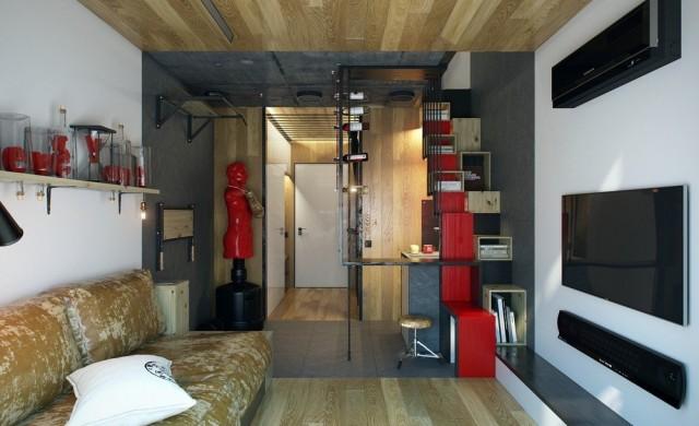 Един апартамент, 18 кв. м. площ, 2 етажа