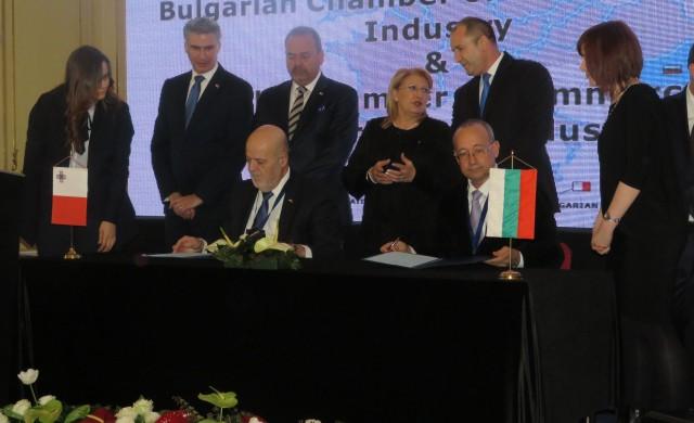 БТПП подписа Споразумение за сътрудничество с палатата в Малта