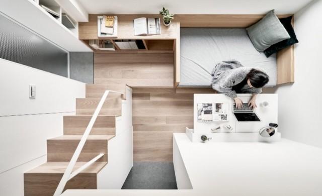 Невероятен апартамент от 17.6 квадрата с баня с вана