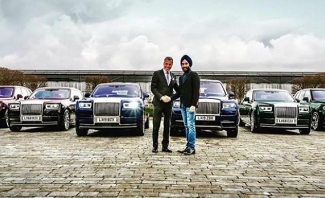 Милиардер си купи 6 Rolls-Royce-a в тон с тюрбаните му