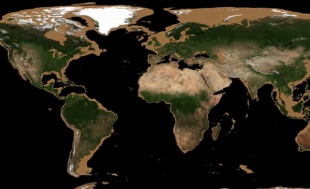 Как изглежда планетата Земя без океаните?