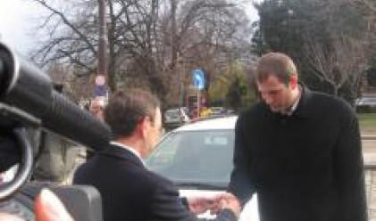 Николай Василев връчи ключовете от нови автомобили на Специалната куриерска служба