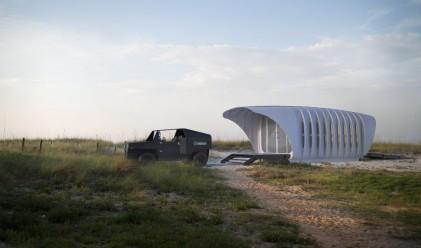 Страхотна устойчива комбинация между 3D принтирани къща и кола