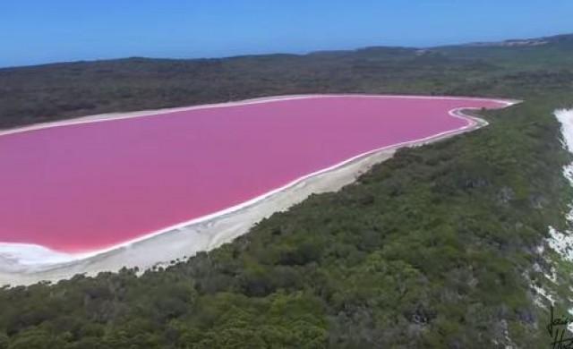 Защо австралийско езеро стана розово?