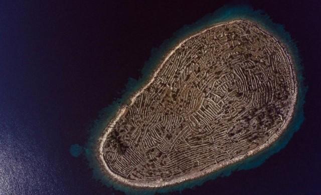 Този хърватски остров прилича на пръстов отпечатък