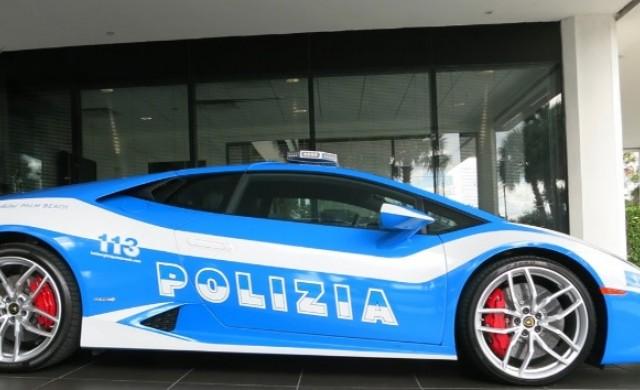 Новият автомобил на италианската полиция вдига 300 км/ч