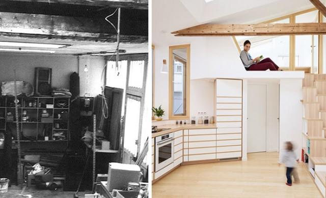 Трансформацията на гараж в арт студио и съвременен дом