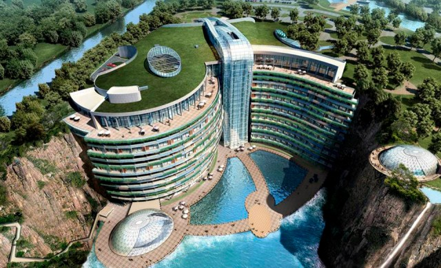В Китай строят хотел в бивша кариера