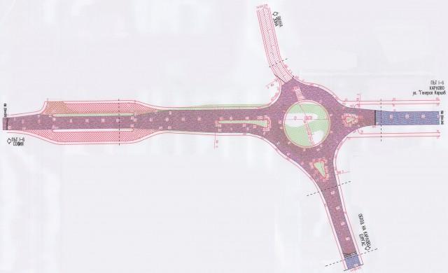 Започва изграждането на кръгово кръстовище на Подбалканския път
