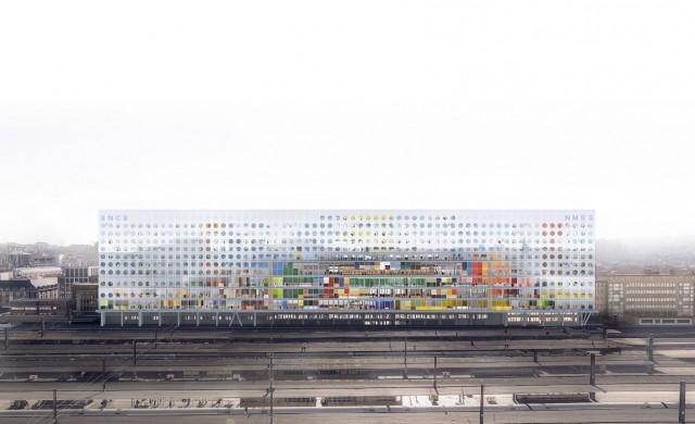 Уникална сграда изниква върху пейзажа на Брюксел