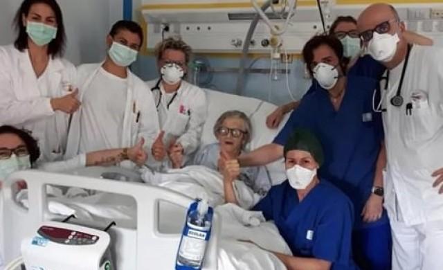 Жена на 95 години пребори коронавируса в Италия
