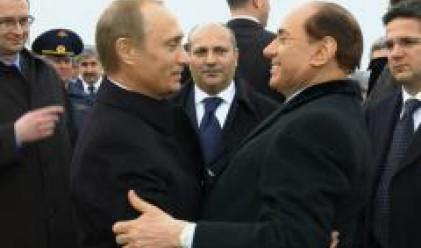 Отношенията Италия-Русия цъфтят под приятелството между Берлускони и Путин