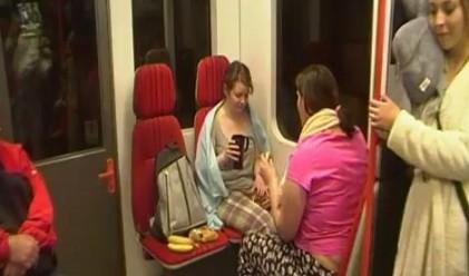 500 младежи по пижами се возиха в метрото в Прага