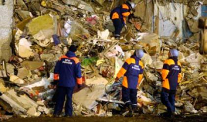 Жилищен блок в Москва рухна