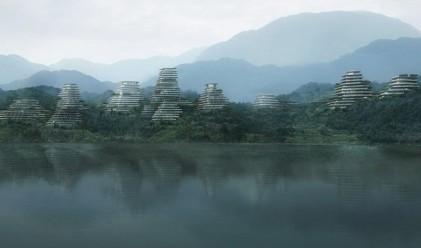 Футуристично село в подножието на една свещена планина