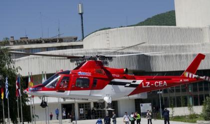 Хеликоптер спаси ученик, пострадал при игра на футбол