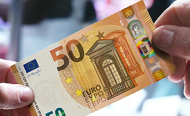 Банкнотата от 50 евро на кирилица влиза в обращение