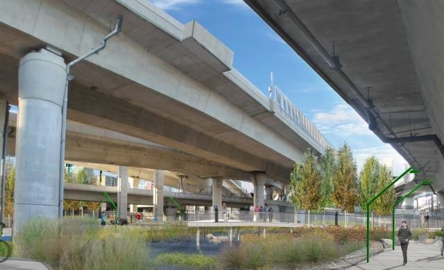 Бостън строи парк под градскaта магистрала