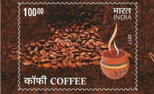Индия пусна пощенска марка с аромат на кафе
