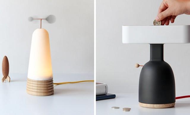 Тези лампи работят, само ако им осигурите пари или вятър