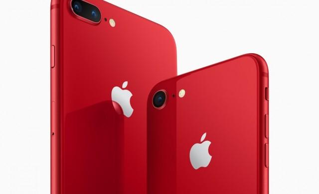 iPhone 8 и iPhone 8 Plus в червено предлага Мтел
