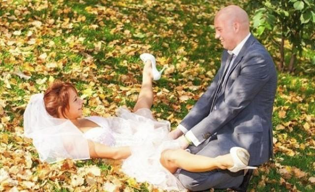 10 изключително странни снимки от руски сватби
