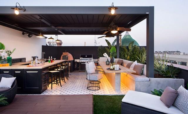 В тази къща в Барселона най-ценното място е покривът