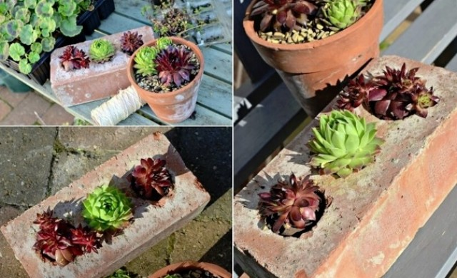 10 оригинални идеи с тухли за дома и градината