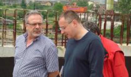 Станишев и Гагаузов инспектираха строителството на автомагистрала Марица