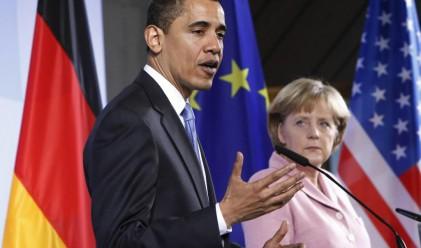 Обама и Меркел обсъждат финансовата реформа