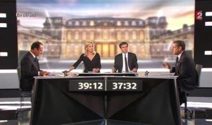 """Саркози нарече опонента си """"лъжец"""" в ефир"""