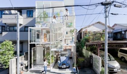 Построиха прозрачен дом в Токио