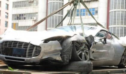 Супер рядък Aston Martin беше унищожен в Хонконг