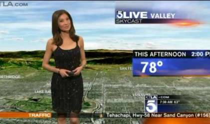 Облякоха жилетка на метеоролог в ефир, била прекалено разголена