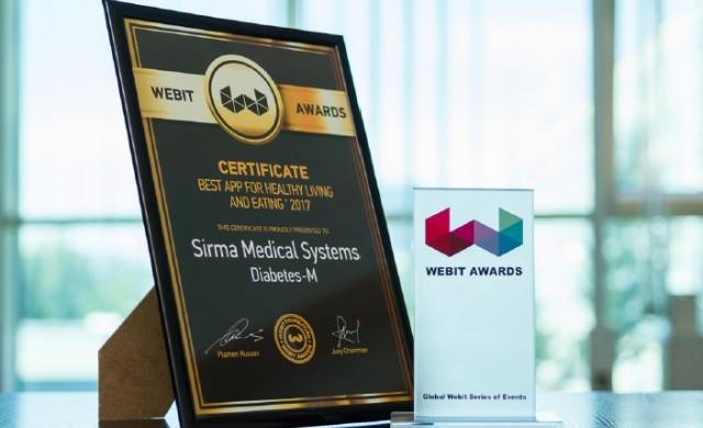 Diabetes:M с награда за най-добро мобилно приложение от Webit